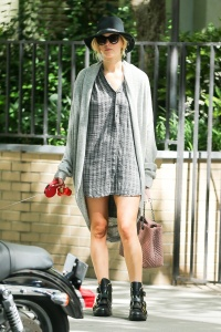 Jennifer Lawrence  out with her dog 11