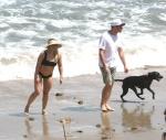 Hilary Duff - at the beach in Malibu 7/8/17