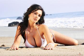Дениз Милани, фото 4457. Denise Milani White Bikini (From Her Old Website), foto 4457