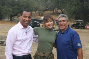 Katharine McPhee on the set of Scorpion in California - October 2014