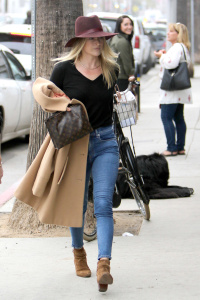 Ali Larter - Out For Lunch in Santa Monica With a Friend- February 8th 2017