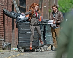 Карен Гиллан, фото 202. Karen Gillan - Set of 'Not Another Happy Ending' in Glasgow, Scotland - 7/20/12, foto 202
