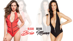 Alison Brie & Olivia Munn Swimsuit Wallpaper