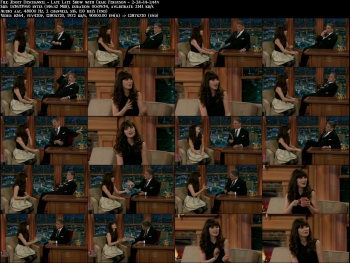 Zooey Deschannel - Late Late Show with Craig Ferguson - 2-24-14