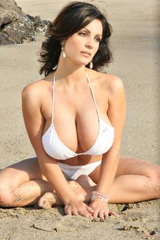 Дениз Милани, фото 4461. Denise Milani White Bikini (From Her Old Website), foto 4461