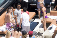 Hailey Baldwin - In a Bikini on a Boat in Miami 7/7/17