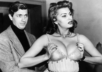 Sophia Loren - Costume Fitting Session For The Movie Attila in 1954