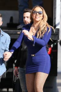 Mariah Carey - Arriving At ABC Studios For Jimmy Kimmel Live - February 15th 2017