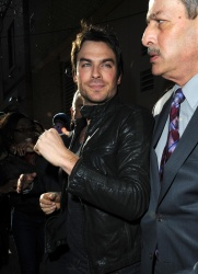 Ian Somerhalder - Arriving at Live with Kelly and Michael in NYC (March 13, 2013) - 18xHQ BI5bOPrP