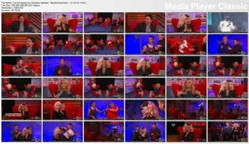 Carrie Keagan as Christina Aguilera - Big Morning Buzz - 12-18-12 (CLEAVAGE, LEGS in FISHNETS)