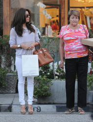 Eva Longoria - leaves the hair salon in LA 3/15/13