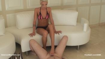 Footjob From A Slavegirl