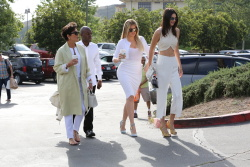 Kendall Jenner and Khloe Kardashian at a Church in Agoura Hills - April 5, 2015