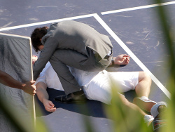 """Ian Somerhalder - Has a Fight Scene on the Set of """"Time Framed"""" 2012.10.21 - 22xHQ UPucfsFc"""