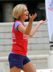 Rachel riley action for kids charity beach volleyball game for Rachel s palm beach