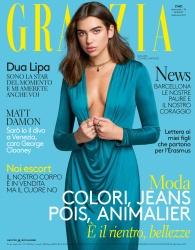 Dua Lipa -                    Grazia Magazine (Italy) September 2017 David Oldham Photos.