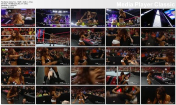 Alicia Fox - WWE - 5-26-14 (wet cleavage, short shorts)