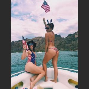 Francia Raisa Bikini Instagram Pics - July 4, 2015