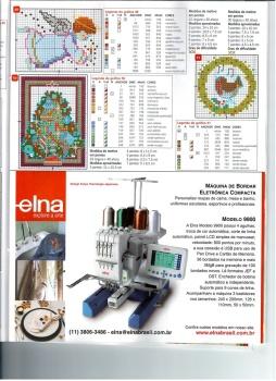 """Agulha de Ouro """" - популярный бразильский журнал по рукоделию. .  В нем представлены модели и схемы вышивки крестиком..."""