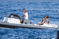 Nina Dobrev and Asustin Stowell enjoy the ocean off the cost the French Riviera (July 26) Yf4gZU5J