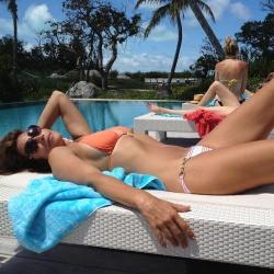 Cindy Crawford in a Bikini - 2/14/15