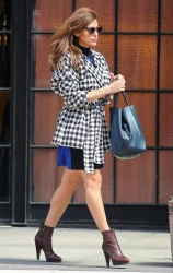 Eva Mendes - leaves her hotel in NYC 4/17/13