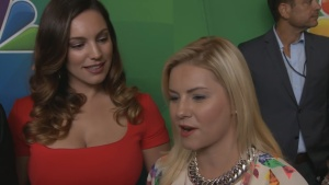 Kelly Brook NBC Upfronts TV Interview : ONE BIG HAPPY 2014