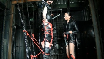 Fetish Diva Nadja - Extremly bondage torture in the hall of chains (part 2 of 3)