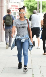 Christina Milian - In Jeans out in Los Angeles 4/25/17