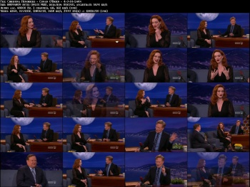 Christina Hendricks - Conan O'Brien - 4-7-14 (oh that cleavage!)
